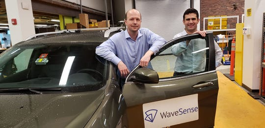 WaveSense Founders CTO Byron Stanley (left) and CEO Tarik Bolat (right) at the company's headquarters in Somerville, Massachusetts.