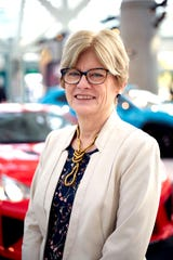 Michelle Krebs, executive analyst at Cox Automotive, is pictured here at the L.A. Auto Show in November 2018.