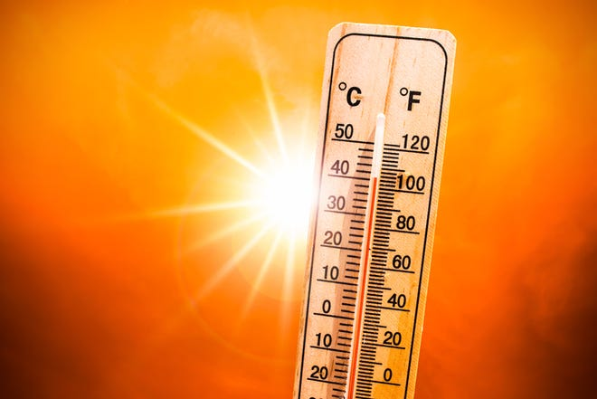 Hhot summer or heat wave