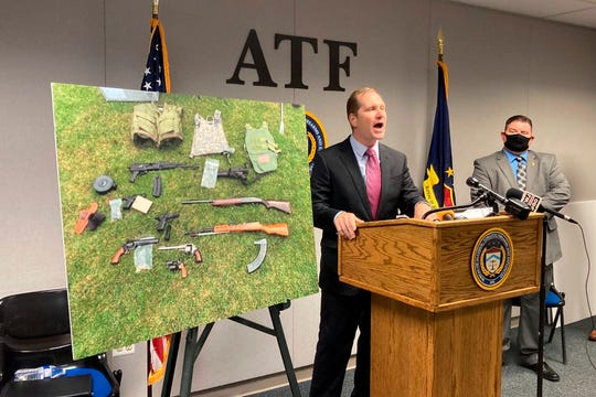 U.S. Attorney Matthew Schneider announces Wednesday, July 29, 2020, that dozens of federal agents and deputy marshals are being assigned to Detroit to combat gun violence and arrest fugitives.