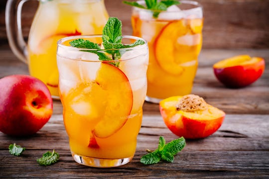 Peach lemonade adds a twist to a traditional summertime favorite.