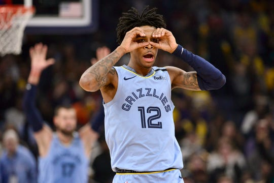 Memphis Grizzlies guard Ja Morant is averging 17.6 points and 6.9 assists.
