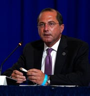 Health and Human Services Secretary Alex Azar speaks during a roundtable on donating plasma at the American Red Cross national headquarters.