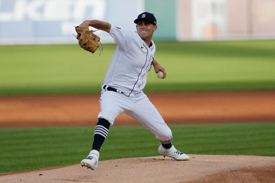 Matthew Boyd delivers in the first inning Wednesday against the Royals.