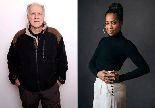 This combination photo shows actor-director Werner Herzog and actress-director Regina King. The Toronto International Film Festival on Thursday unveiled a lineup featuring the directorial debut of Regina King and the latest documentary from Herzog.