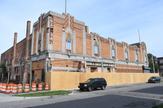 The vacant Vanity Ballroom at Newport and Jefferson, photographed here, has been a long-time blight on the Jefferson Chalmers neighborhood.
