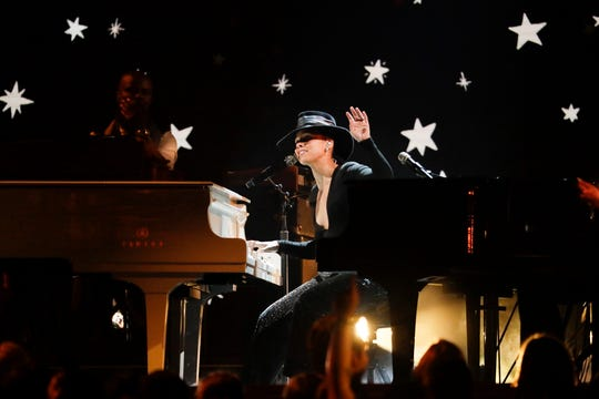 """In this file photo, host Alicia Keys performs during the 61st Grammy Awards at Staples Center in Los Angeles in Feb., 2019. Keys will executive-produce """"American Masters: How It Feels to Be Free"""" for PBS."""
