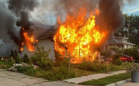 The fire was reported early Thursday.