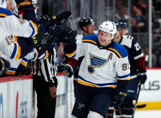 St. Louis Blues right wing Vladimir Tarasenko was limited to 10 regular-season games this season because of shoulder surgery.