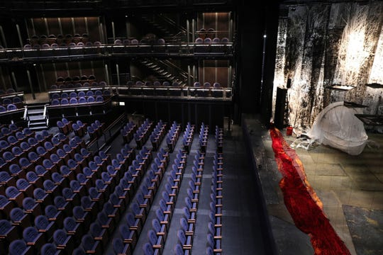 The Yard at Chicago Shakespeare Theater on Navy Pier has vertical, moveable towers of seats that  mimic box seats, and could make separating groups of theater-goers easier.