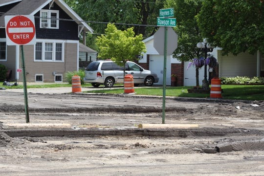 The Rawson Avenue reconstruction project, seen here in June 2020, will not be completed until 2021 due to delays related to the COVID-19 pandemic and unexpected water line work along the road.