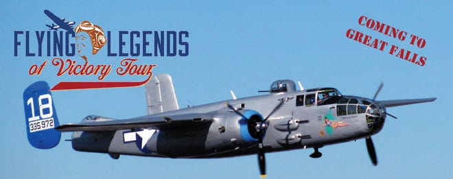 A B-25J Mitchell bomber aircraft will make a stop in Great Falls Aug. 2-Aug. 9.