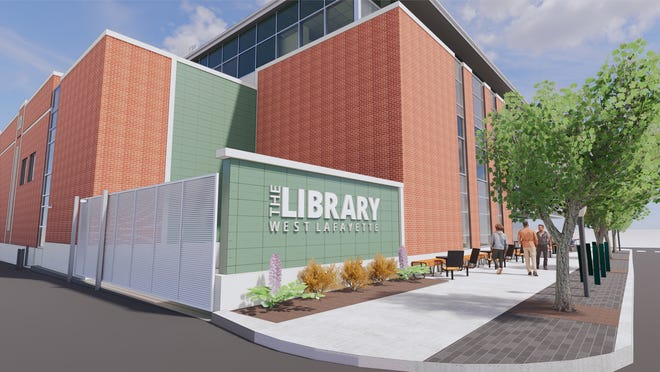 Renderings of the remodeling and expansion to West Lafayette Public Library.