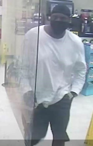 This man is accused of robbing a Mapco gas station and Family Dollar store in Nashville. Metro Nashville police are working to identify him.