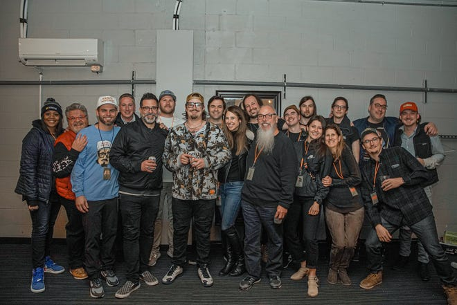Big Loud Partners Craig Wiseman, Seth England, and Joey Moi, with their Big Loud team including Big Loud Records artists HARDY and Morgan Wallen.