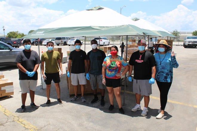 From left to right): Jesus Vasquez-Peraza, Santos Medina, Diego Nito, Marc Dorcin, Jennifer Santos-Martinez, Jamie Ozuna and Mariana Brito.