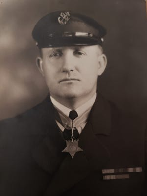 Newark Police Officer Harry Beasley died in 1931 after being shot in downtown Newark while on patrol.
