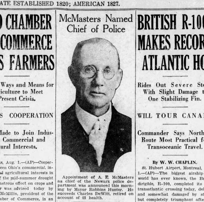 This story appeared on the front page of the Aug. 1, 1930edition.