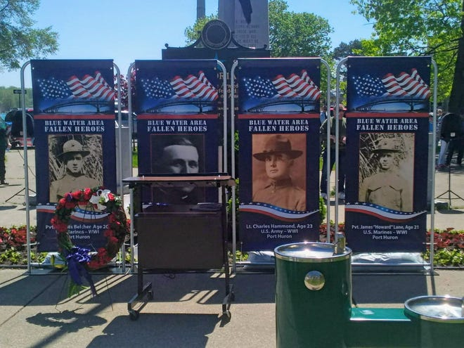 The Blue Water Area Fallen Heroes Banner Program seeks to place banners like those pictured on light poles across the region. The banners depict fallen service members from across the area.