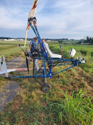 A gyrocopter crashed at York Airport in Jackson Township on Thursday, July 30, 2020.