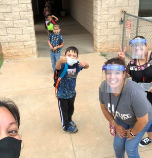 Wichita Falls ISD students and staff members wore facial protection during summer school at Southern Hills Elementary School this year to prevent the spread of COVID-19.