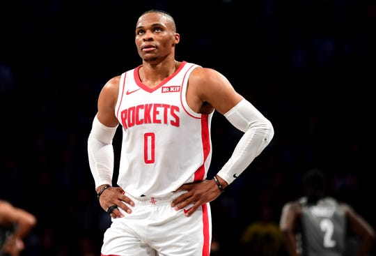 Russell Westbrook will wear the message 'Black Lives Matter' on his jersey during the NBA season in Orlando.