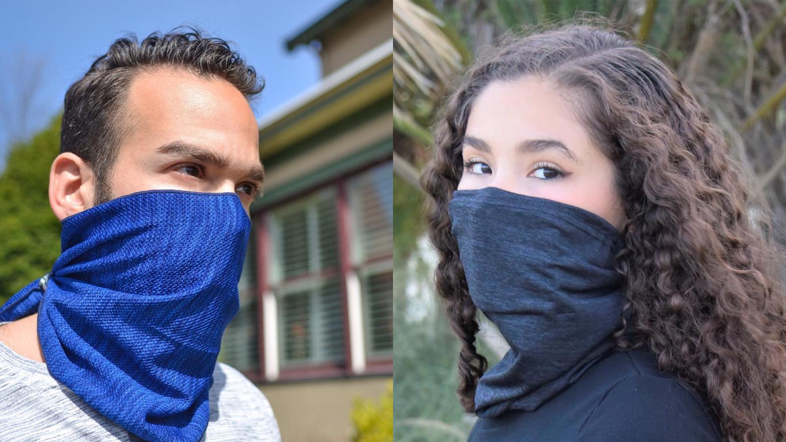 Cooling Neck Gaiter with Filter for Men Women Kids Face Covering Bandana Gator Mask Pocket Nose Wire