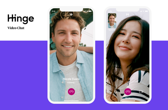 The dating app Hinge allows users to enjoy a video chat date on its platform.
