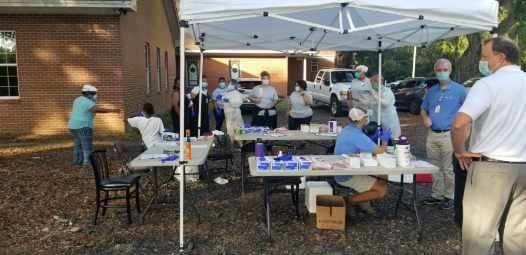 COVID-19 testing was held on July 31 at Second Euhaw Baptist Church in Ridgeland.