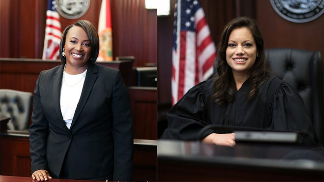 Attorney Rhonda Peoples Waters and Duval County Judge Erin Perry face off this month in an election.