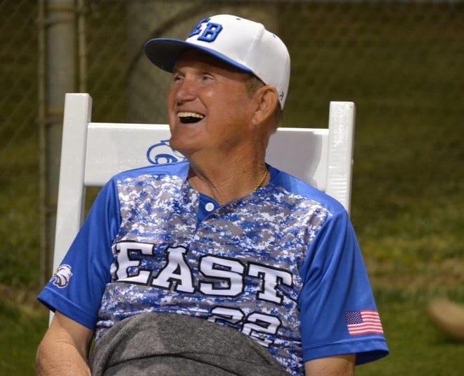"""Russell Priest, who coached baseball at East Bladen for four decades, died Thursday. The 73-year-old Priest is being remembered as the """"ultimate Eagle, the ultimate coach, the ultimate friend."""