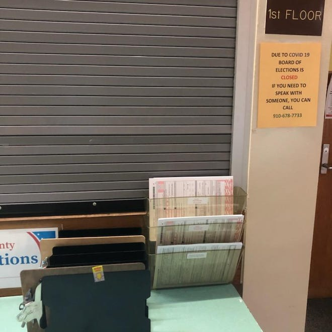 Absentee ballot request forms and voter registration forms are available and can be returned to the Cumberland County Board of Elections on Fountainhead Lane in Fayetteville, despite the office closure from COVID-19. Officials are reachable during business hours by phone or email.