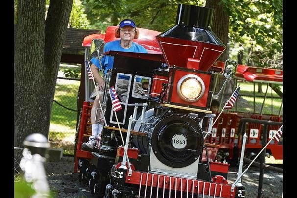 John Burgess has escorted thousands of riders around City Park in his 11 years as train engineer.