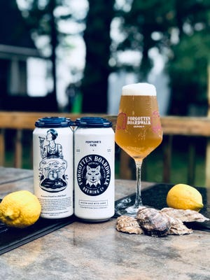 The latest craft brew at Forgotten Boardwalk in Cherry Hill is a sour ale made with an unorthodox combination of oysters and lemons. Artwork on the cans is created by Laurel A. Baker.