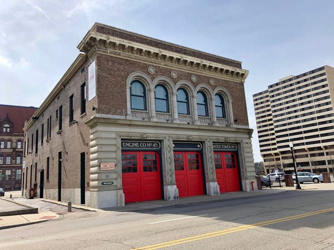 The firehouse, former home to Engine 45.