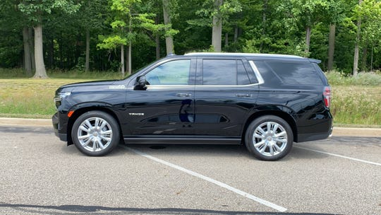 2021 Chevrolet Tahoe prices start at $49,000. The 4WD High Country model shown stickers at $80,550.