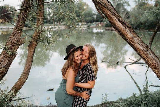 Lauren Hughes (left) and Addie Rivett (right).
