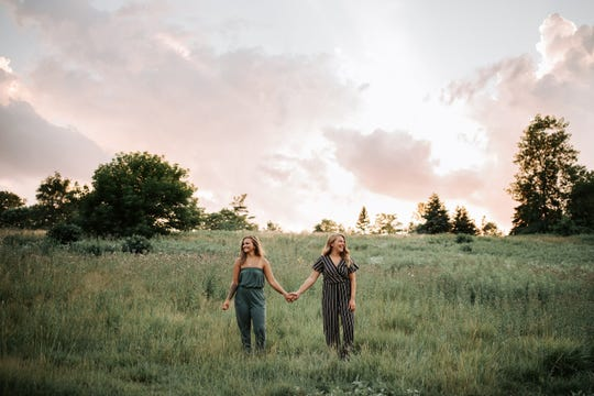 Lauren Hughes (left) and her fiancé Addie Rivett (right) have been engaged for four months. Hughes lives in Windsor and Rivett lives in Farmington Hills. With U.S./Canada border restrictions the two are unsure when they will be able to marry.