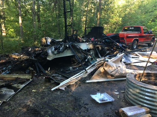 Michigan State Police said a 67-year-old man suffered 2nd- and 3rd-degree burns Friday after his camper exploded.