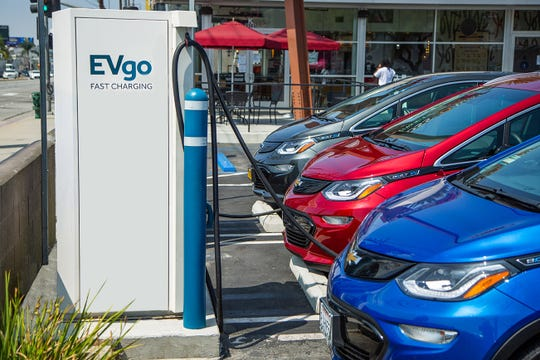 General Motors Co. and EVgo, a public electric vehicle charging network, plan to add 2,700 chargers to the network in the next five years.