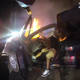 Bodycam footage from a Westland Police officer showing the forced removal of a Livonia man after his car was set ablaze from doing donuts.