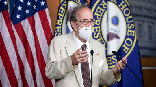 """Rep. Eliot Engel, D-N.Y., Chairman of the House Committee on Foreign Affairs, speaks during a news conference on Capitol Hill, after a meeting at the White House, Tuesday, June 30, 2020 in Washington. Engel said Friday he had issued the subpoena as part an investigation into Pompeo's """"apparent use of Department of State resources to advance a political smear of former Vice President Joe Biden."""""""