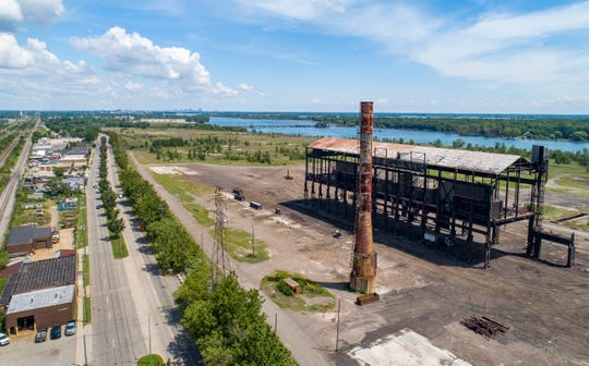 The former McLouth Steel Trenton plant on Friday, July 31, 2020.