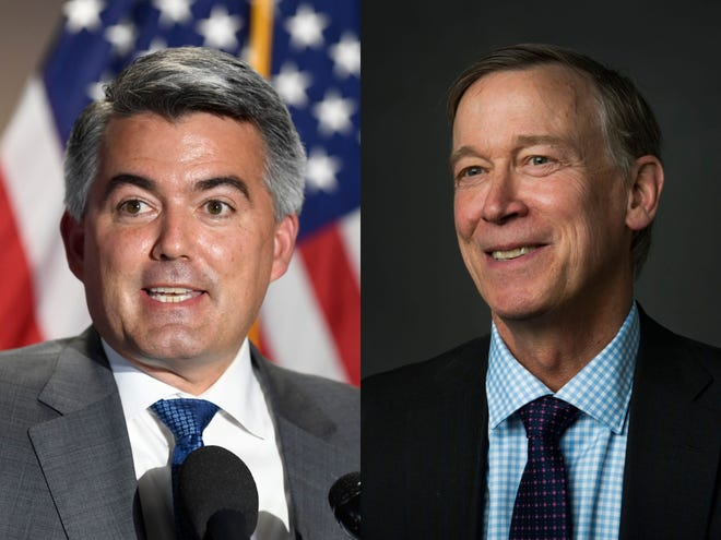 Sen. Cory Gardner is facing a challenge from former Colorado Gov. John Hickenlooper in the November election for one of Colorado's Senate seats.