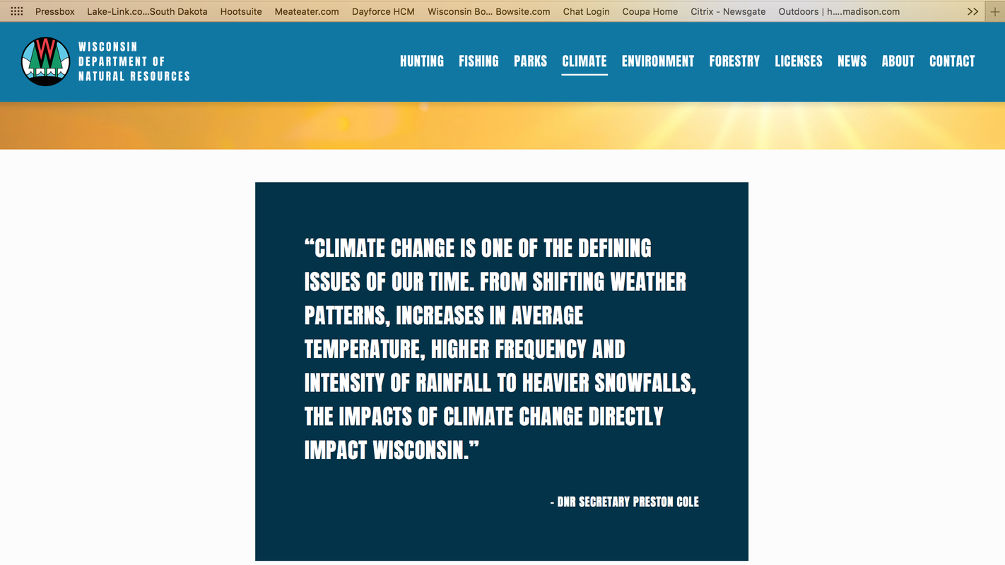 Wisconsin DNR updates website, adds 'Climate' and removes 'Business' headings