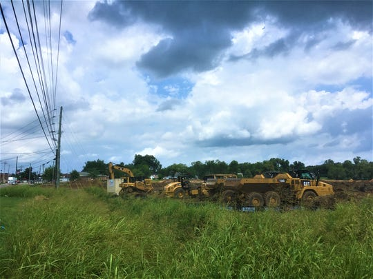 Grading work has recently started on 18.6 acres on the east side of South Lowry Street north of Fire Station 4 for the Alta Depot development of 308 apartments by Smyrna's historic district.