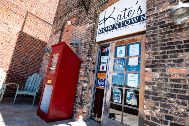 Kate Voss, who owns Kate's Downtown in Port Huron, plans to move the 'Little Red Pantry' located behind her store after people misused it, including using it as a can return, putting soiled clothing into it and more.