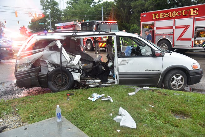 A 2002 Pontiac van was involved in a serious accident Thursday, July 30, 2020, on U.S. 40 and Round Barn Road.