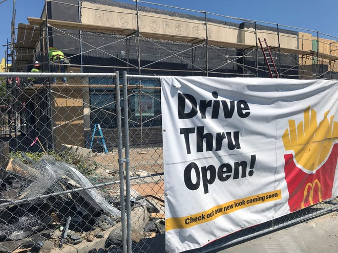 The McDonald's on East Cypress Avenue in Redding is getting a face-lift.