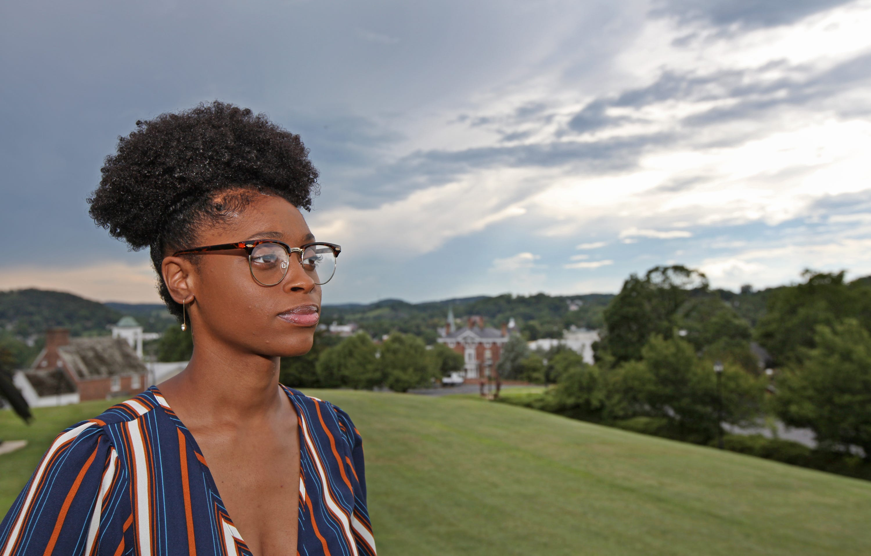 Jazmine Brooks is an activist who worked to get the Stonewall Jackson Hotel owners to change the hotel's name in Staunton, Va.
